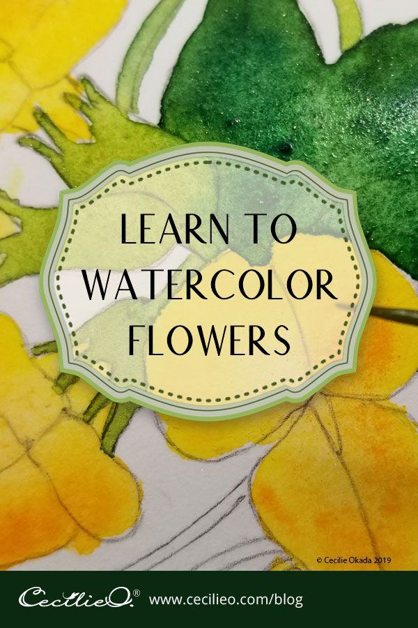How to Watercolor Beautiful, Simple Flowers | Ceci
