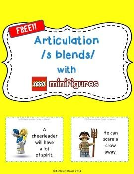 FREE LEGO Articulation S-blends for Speech Therapy is a fun quick