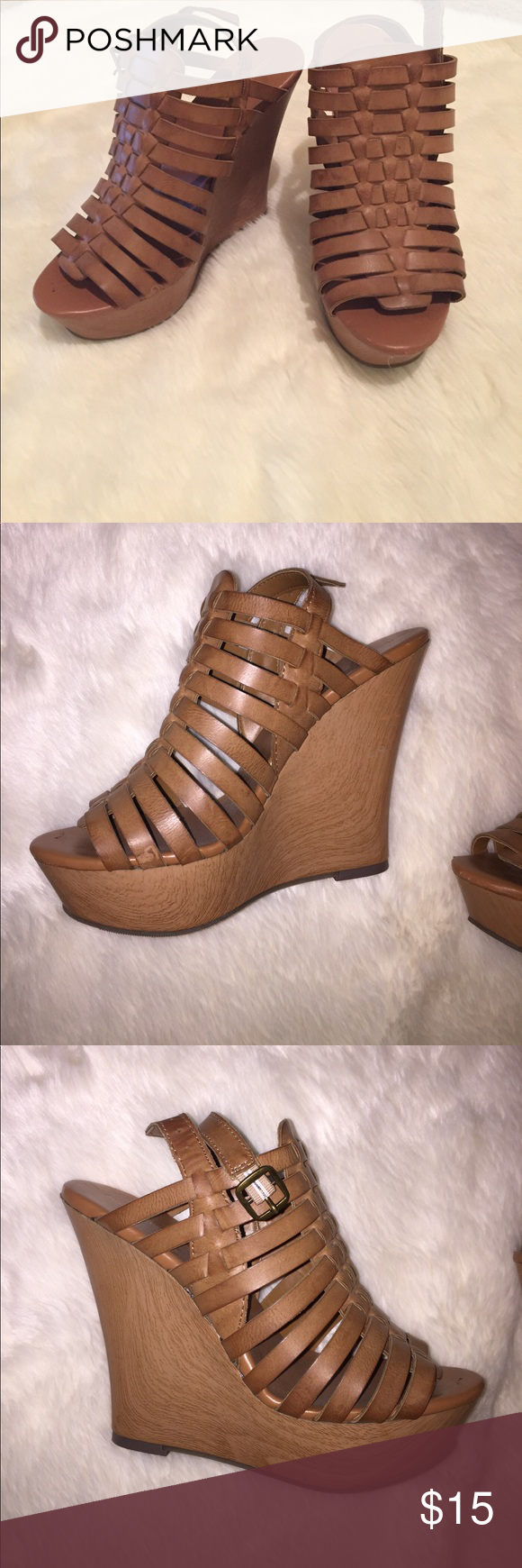 Beige strappy wedges 3 inch heel beige wedges with a wood