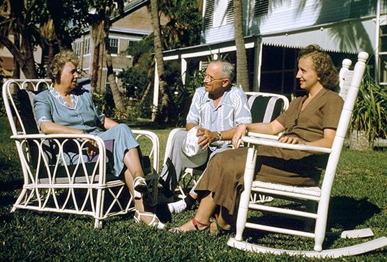 on Vacation President Harry Truman, Bess Truman, and daughter Margaret.  in Key West, Fla., on Nov. 24, 1948.President Harry Truman, Bess Truman, and daughter Margaret.  in Key West, Fla., on Nov. 24, 1948.