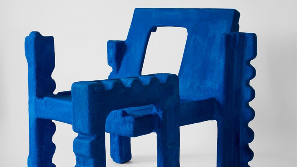 Savvas Laz Transforms Styrofoam Packaging Into Trashformers Chair Sculptural Chair Styrofoam Recycling Facility