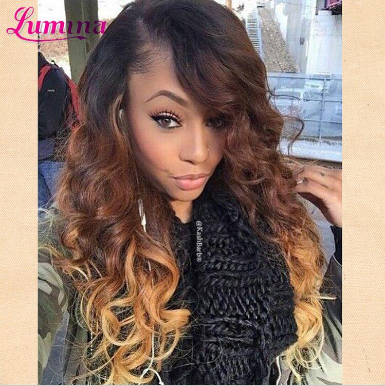 4 Bundles Brazilian Body Wave Ombre Brazilian Hair Honey Blonde