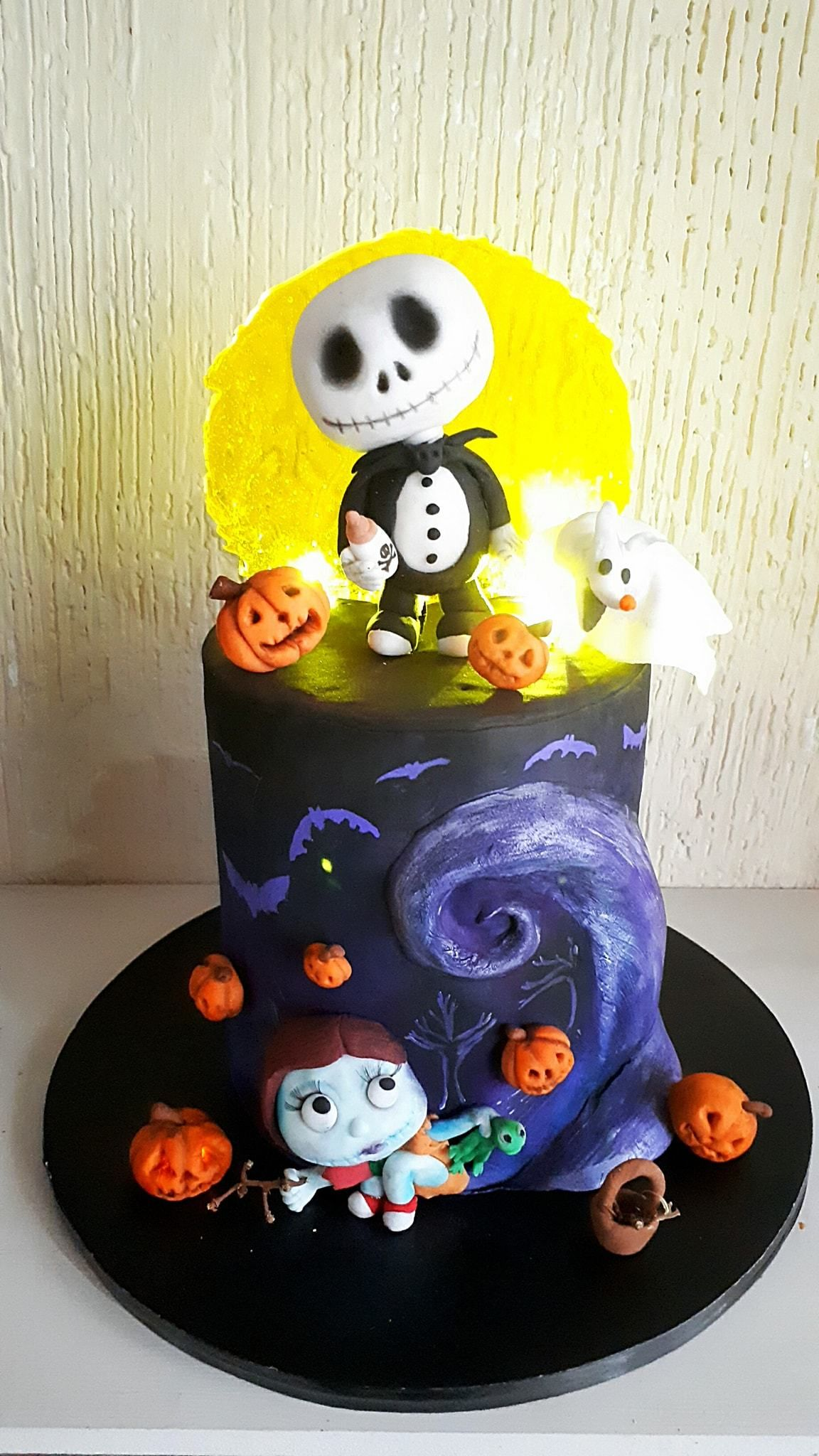 Jack Skellington Birthday Cake Made With Satin Ice Fondant Lau