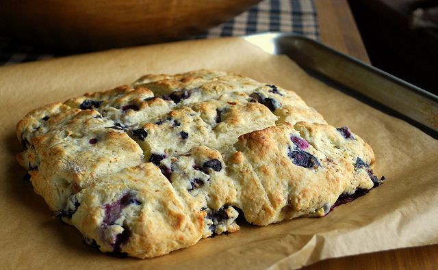 Blueberry Cream Biscuits! Quick and easy!