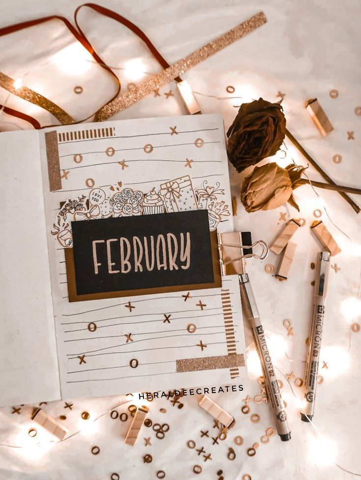 My Romantic February Bullet Journal Set-up