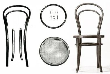 Chaise N14 By Michael Thonet 1857 It Consists Of 6 Parts Transportable And Can Be Assembled Together