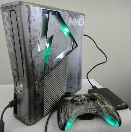 Custom xbox 360 MW3 Slim RGH | Old video game consoles