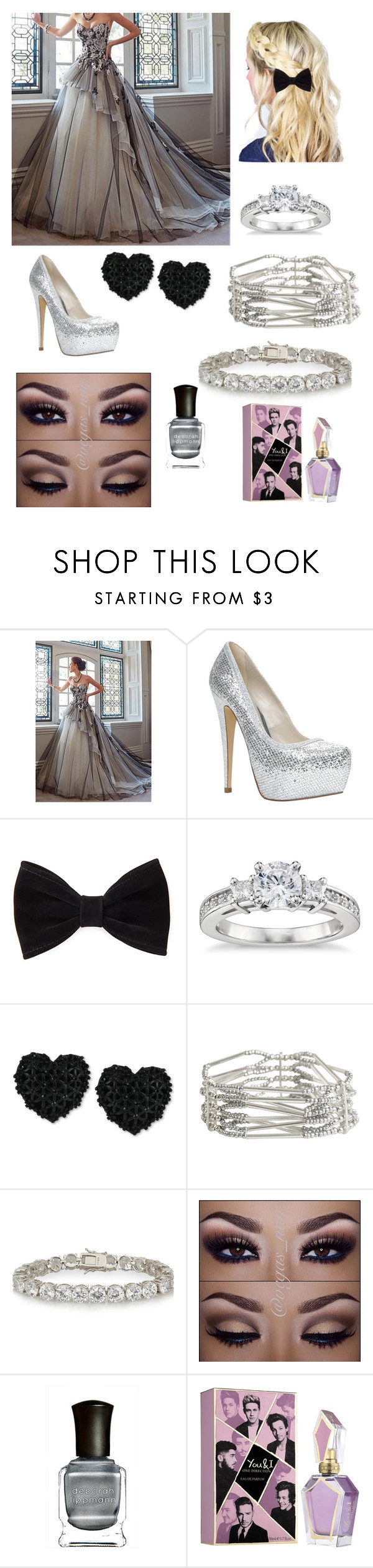 """""""grey"""" by littlelmia ❤ liked on Polyvore featuring ALDO, Forever 21, Blue Nile, Betsey Johnson, Pieces, Kenneth Jay Lane, Deborah Lippmann, women's clothing, women and female"""