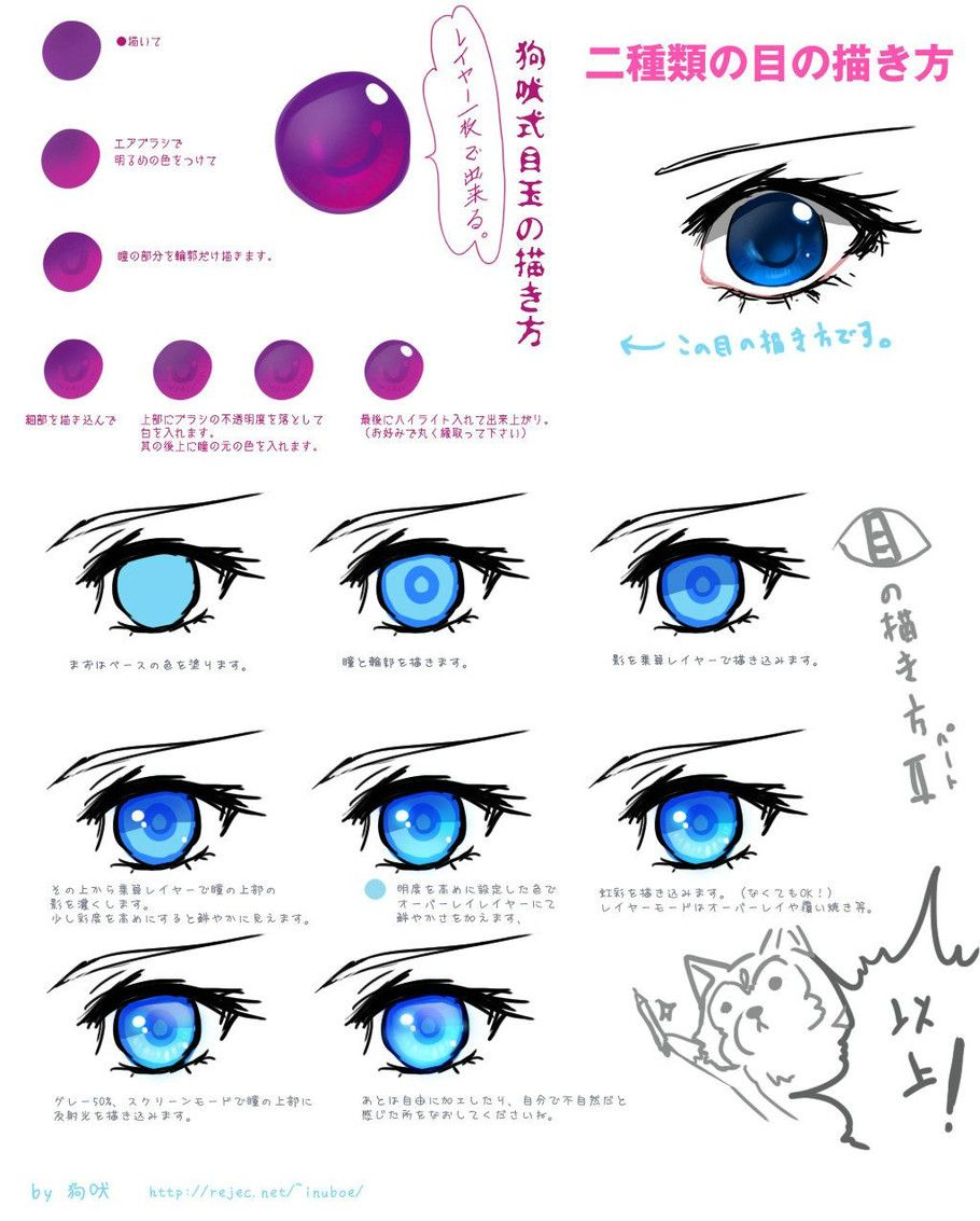 Tip For Coloring Eye Anime Drawings Tutorials Manga Drawing