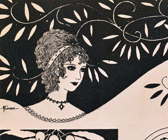 Vintage japanese art deco prints no 28
