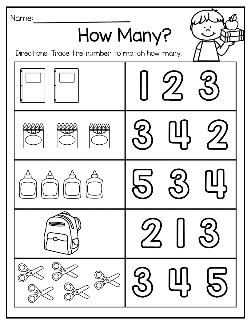 Back to School Math and Literacy Packet | Preschool math ...