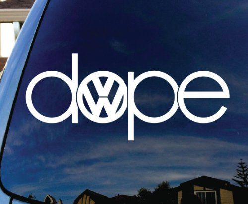 Amazon com dope inspired vw sticker decal notebook car laptop 5 white automotive
