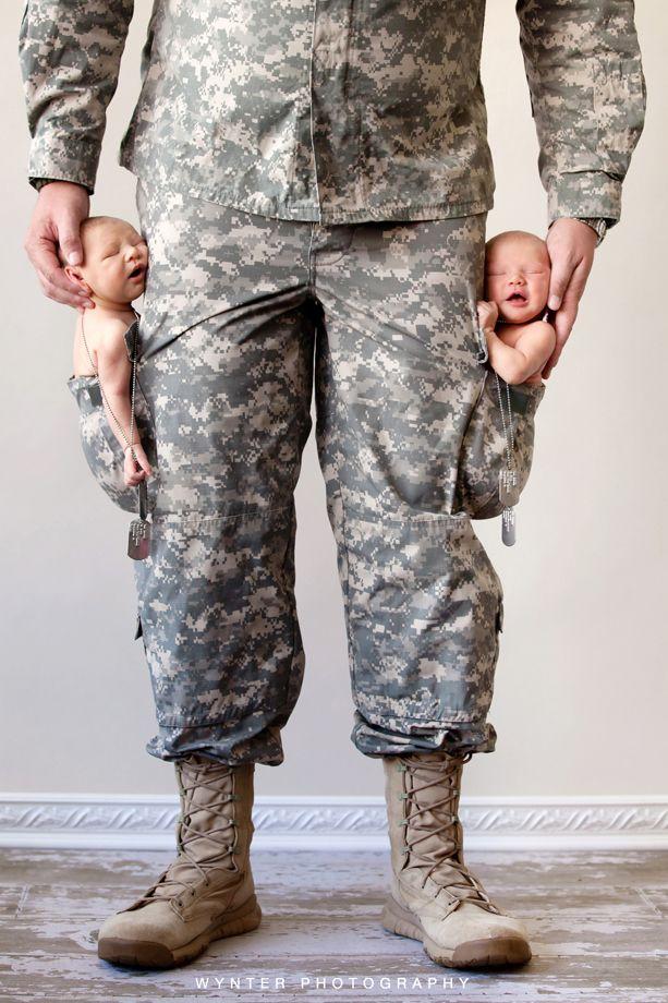 Süße Militärfotos