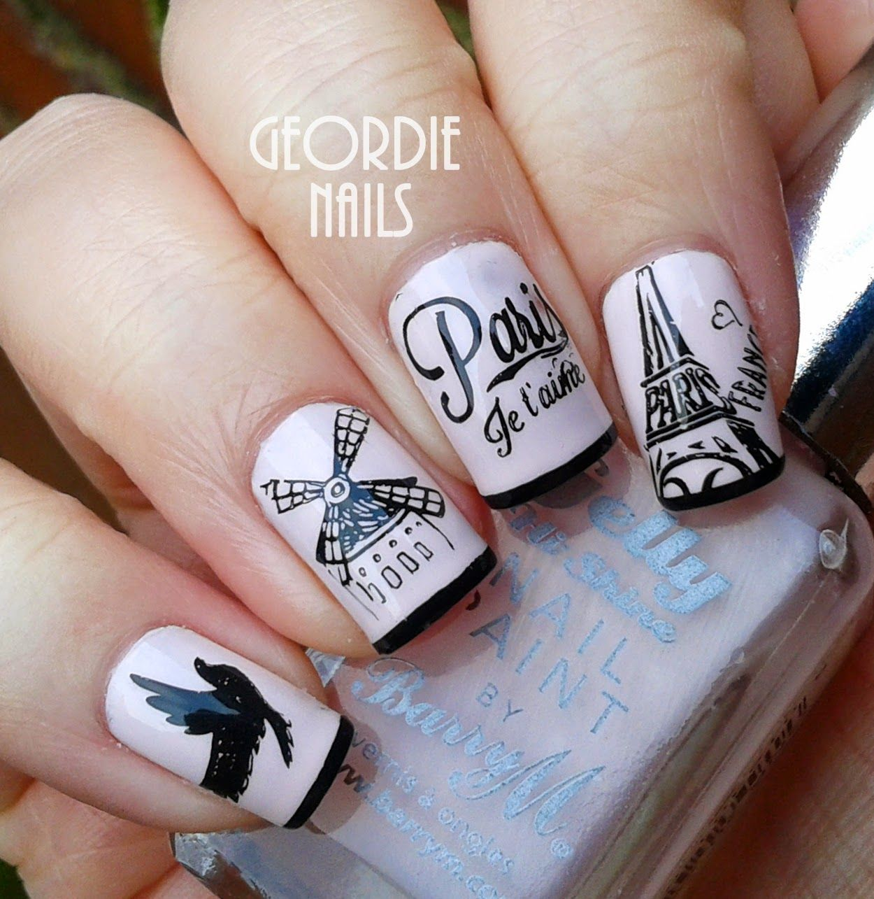 Paris Manicure by Geordie Nails xx - Cute I Love Paris Nail Art Collections Paris Nail Art, Paris