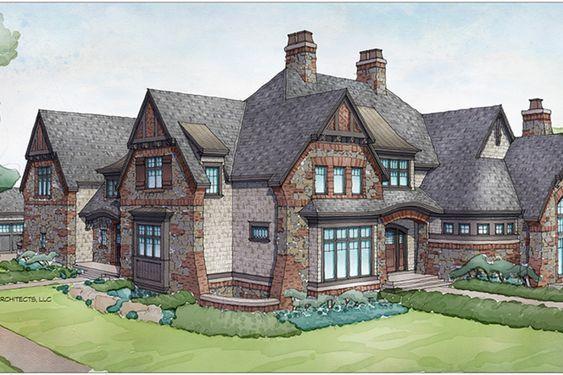 Tudor Style House Plan   5 Beds 5 Baths 7398 Sq/Ft Plan #928