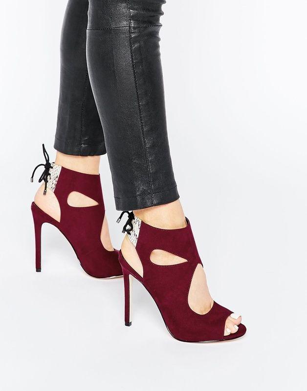 ELEVATOR - Bottines a lacets shoping tenuedujour lookdujour mode femme ete achat fashion mignon jolie tendance ootd luxe chaussures talon escarpin