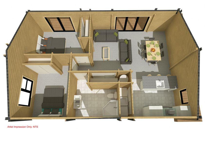 Kea 76 - Kitset Homes NZ | house plans | Pinterest | Granny flat ...