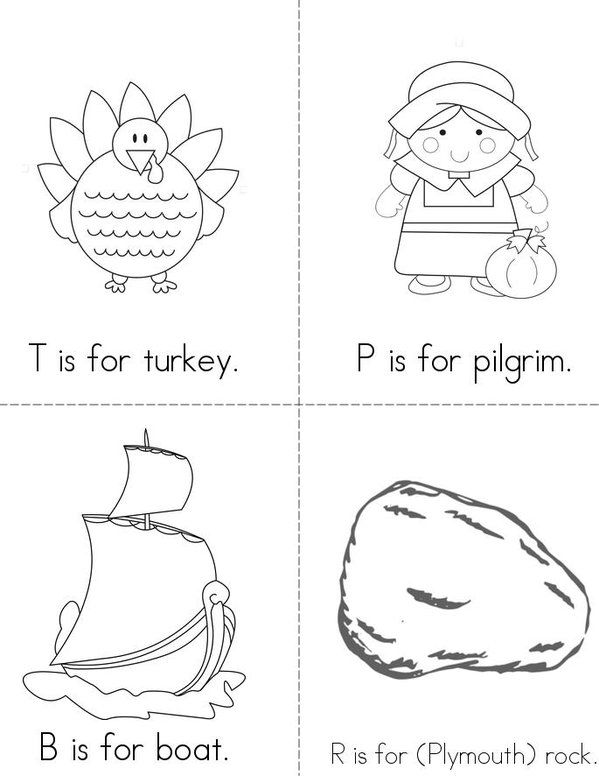 Abc S Of Thanksgiving Mini Book Sheet 1 Thanksgiving Books