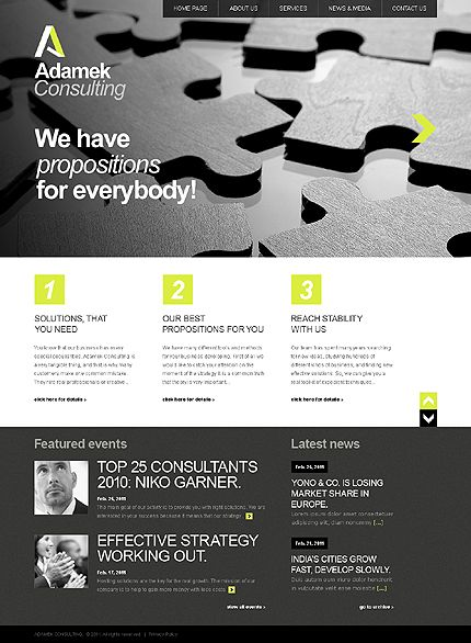 Template 36840 - Business & Consulting Website Template With
