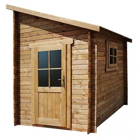 Abri Adosse En Bois Massif 28mm Traite Marron Gardy Shelter Cabane De Jardin Bois Jardins En Bois Abri De Jardin