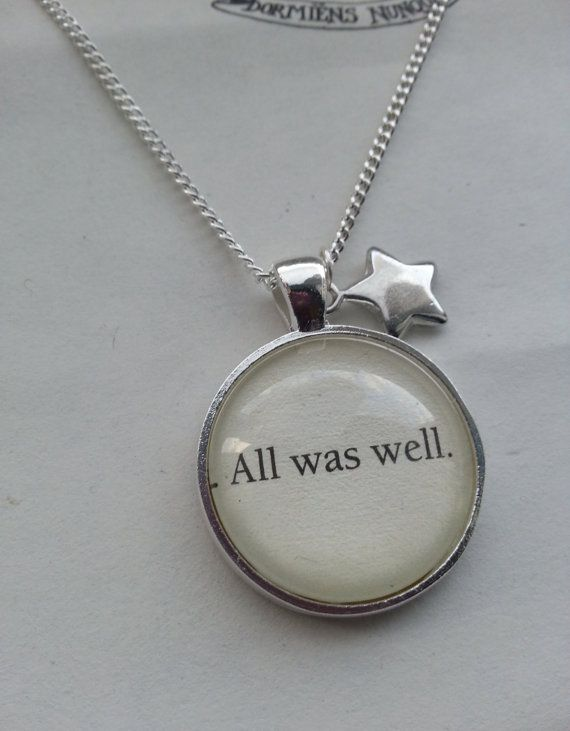 Cabochon Harry Potter Jewelry Harry Potter Quote Necklace Harry Potter Gift