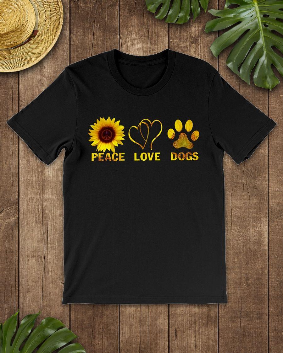 Peace Love Dogs Hippie Sunflower Shirt, Hoodie