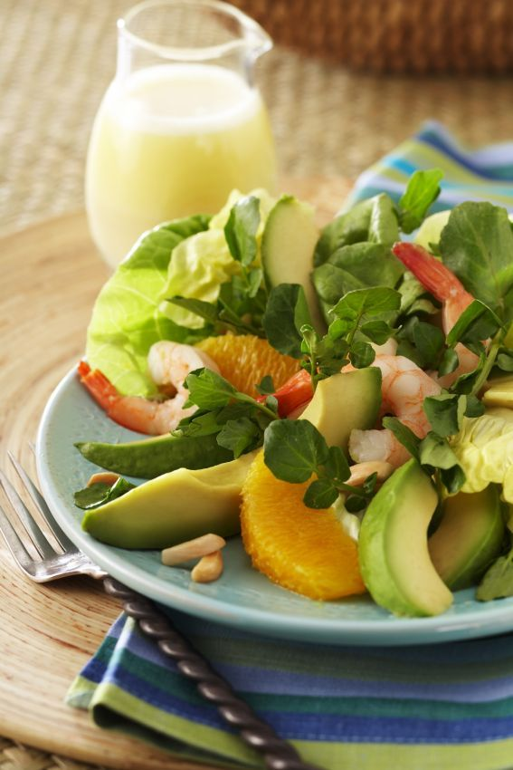 Avocado from Mexico, Orange and Watercress Salad.