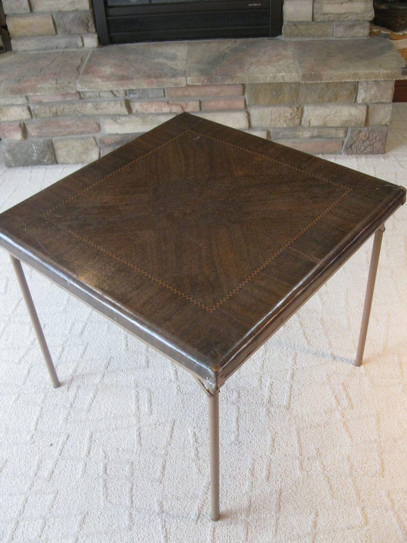 Samson card table SAMSONITE folding table fiberboard 1940s