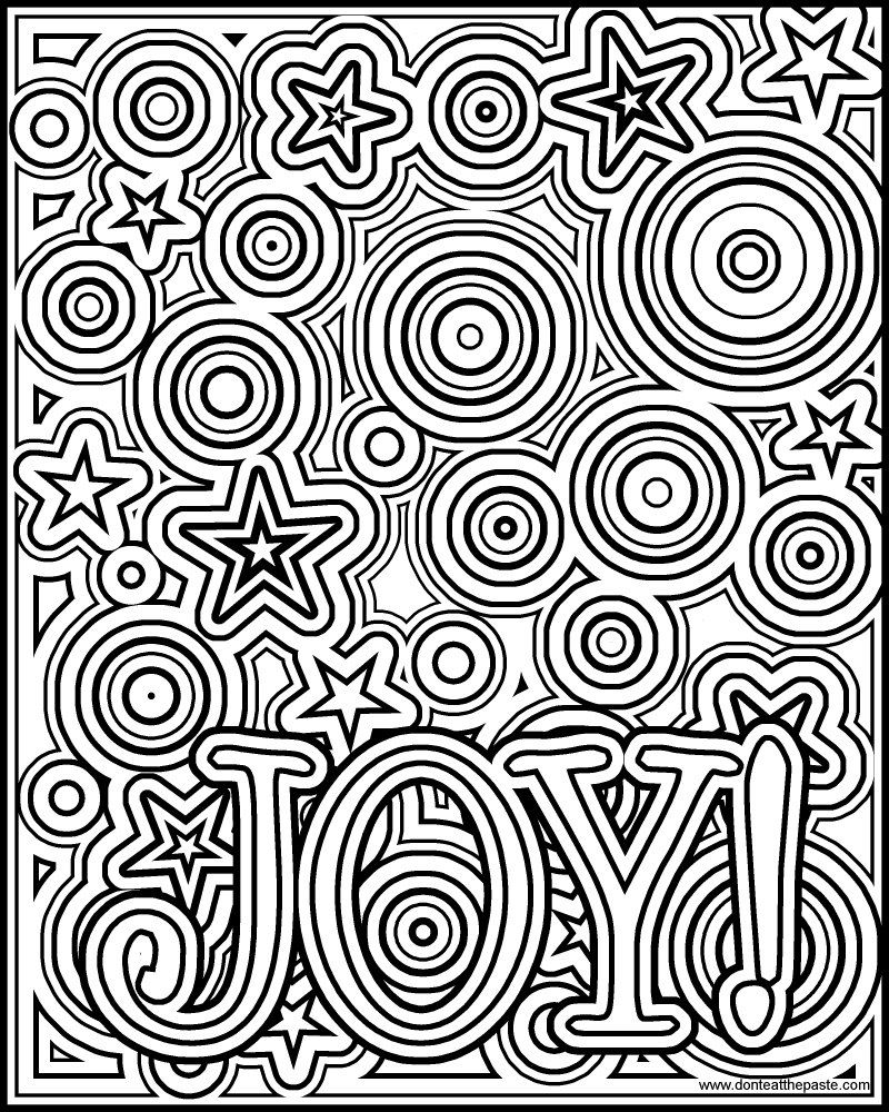 Joy Coloring Page Joy Coloring Page Available In A Negative Version As Well In Both