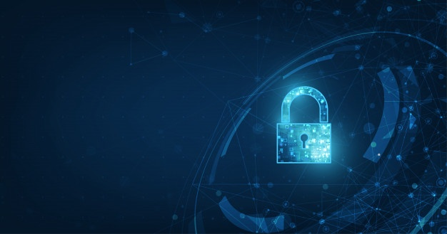 Padlock With Keyhole Icon In Personal Data Security Illustrates Cyber Data Or Information Privacy Idea Security System Design Cyber Security Technology Biometric Identification