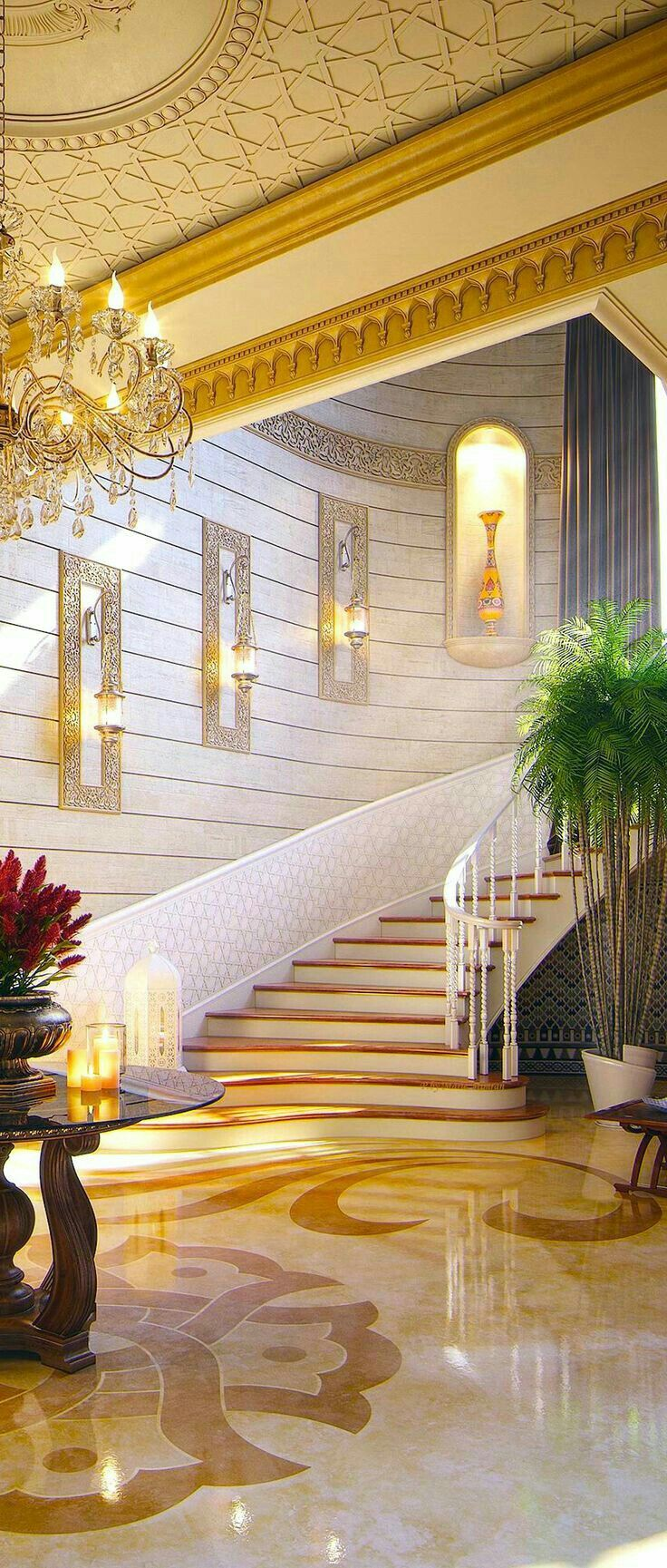 Best Ne Classical Ivory And Col Grand Foyer Staircase 400 x 300