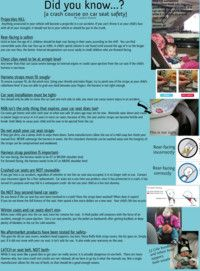 Car Seat Safety! Really good stuff to know.