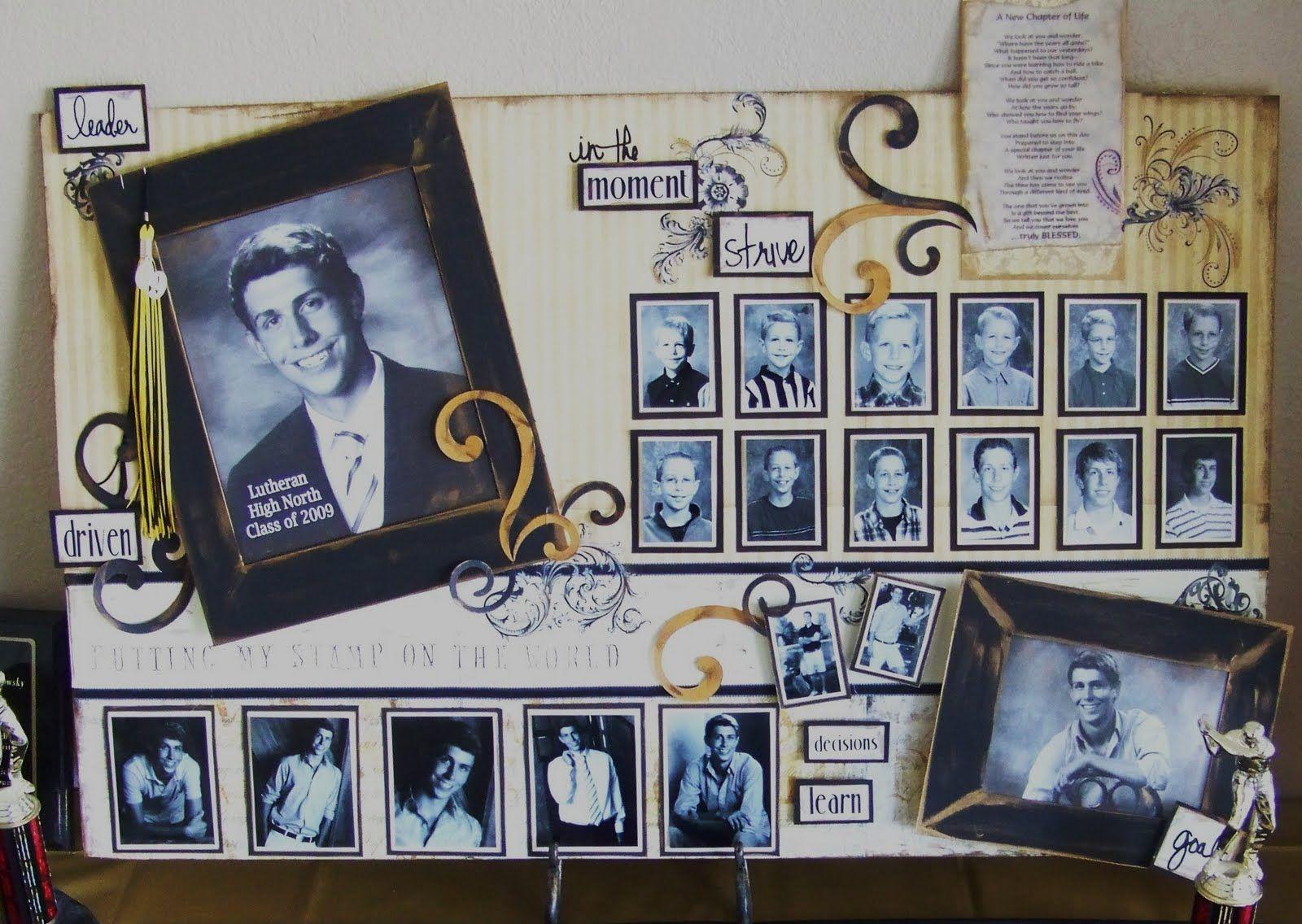 Scrapbook ideas graduation - Graduation Decoration Ideas Creations From My Heart A Graduation Memory Board To Treasure
