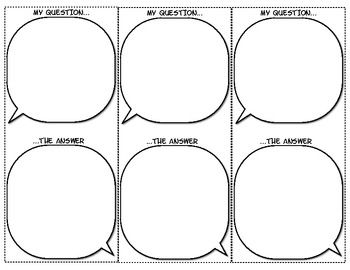 Quote or Speech Bubbles Assessment Inquiry Activity Cards