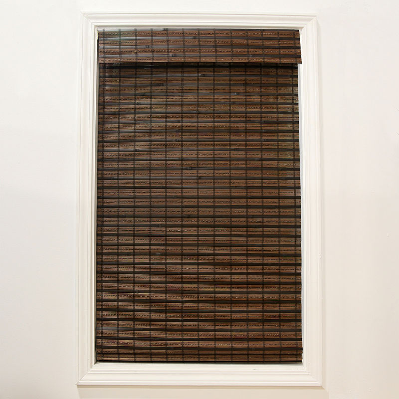 32x48 in Natural Bamboo Roman Shade Cordless Light Filtering Woven Window Blind