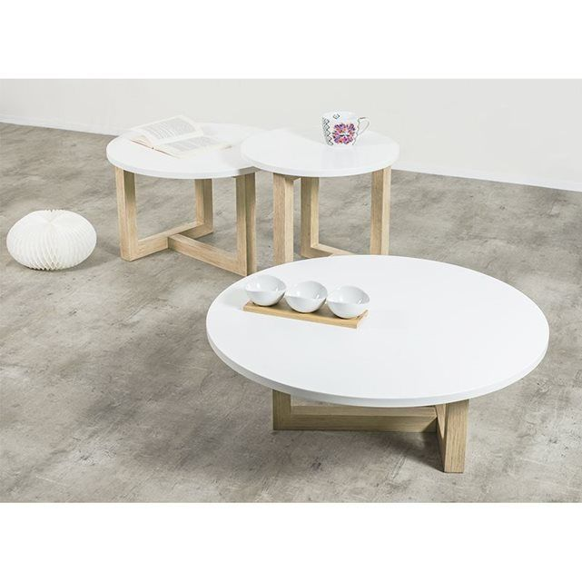 Achatdesign table basse scandinave ronde copenhague 80 - Table basse scandinave ronde ...
