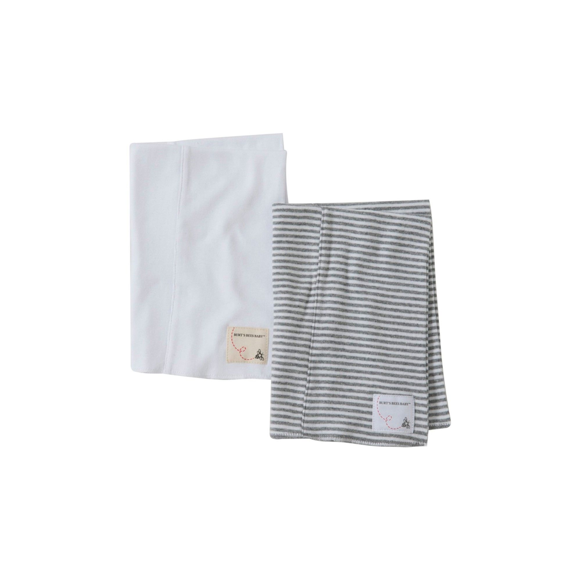 Baby Burts Bees Baby Unisex Baby 2 Pack Striped Burp Cloths - Cloud One Size