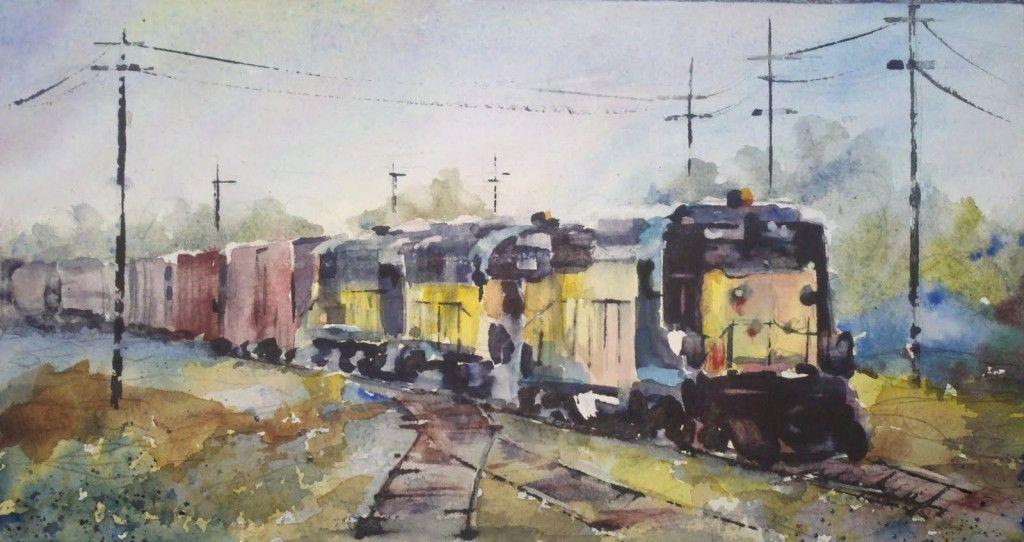 Le chemin de fer et les peintres – Partie 3 | Art moderne, Comment peindre,  Peintre