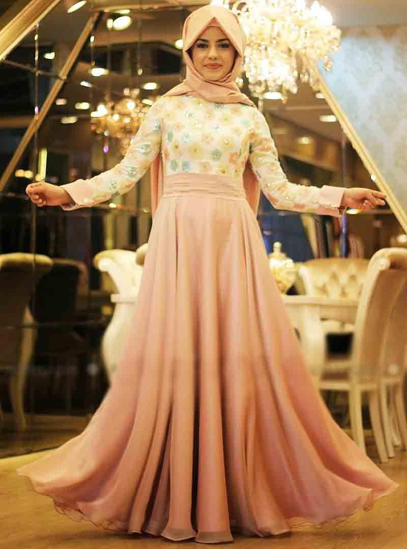 Humble Muslim Short Evening Dresses 2019 Ball Gown Lace Flowers Illusion Islamic Dubai Kaftan Saudi Arabic Evening Gown Prom Dress Weddings & Events