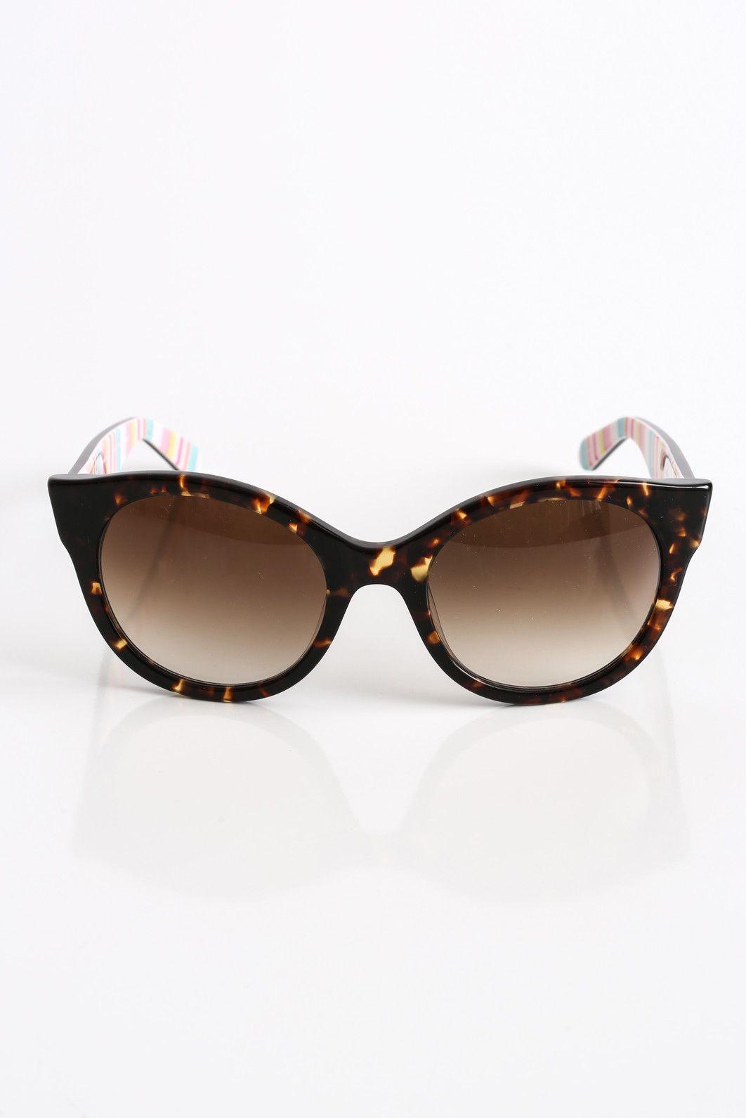 aa43984373 Kate Spade Melly Round Havana Sunglasses