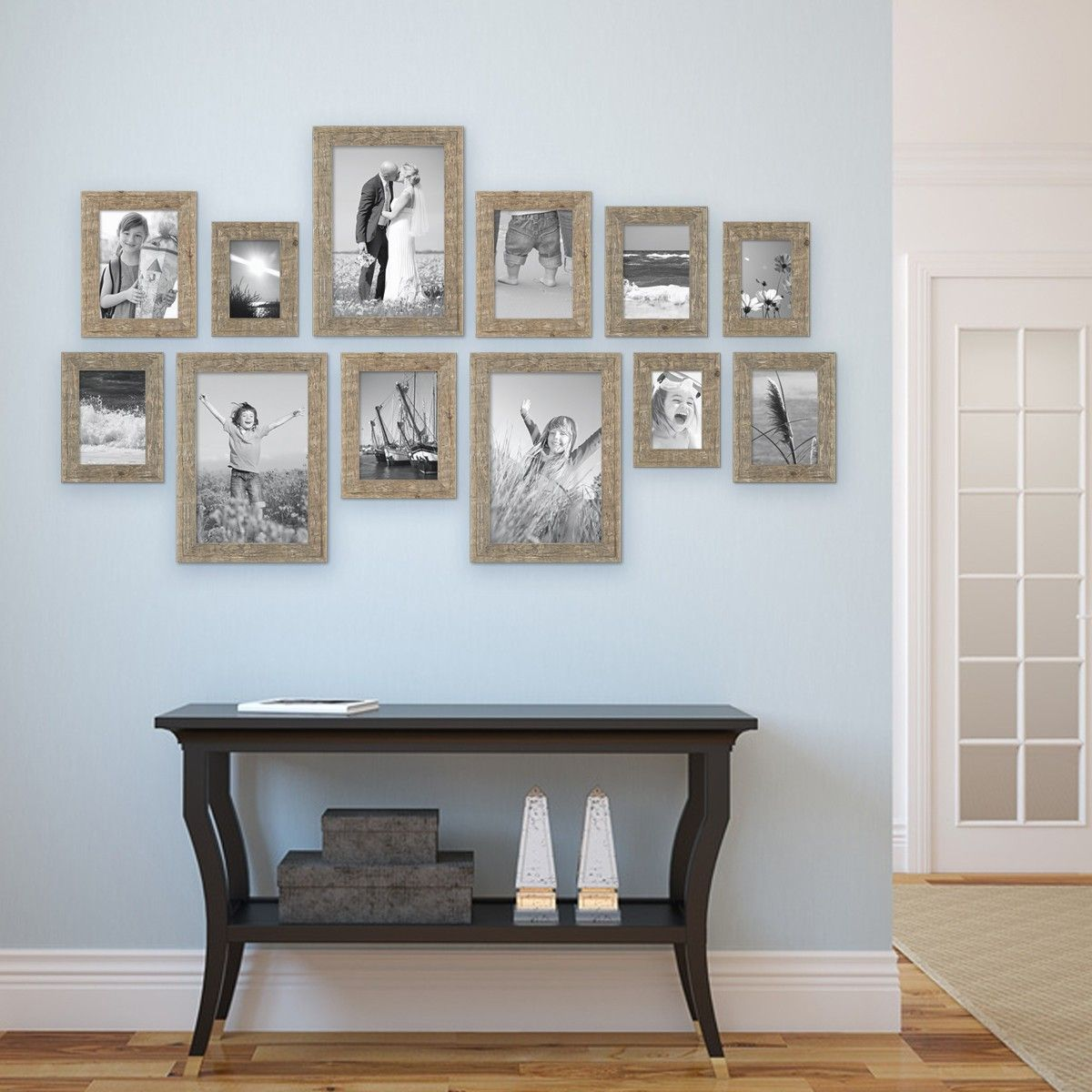 Landhaus Bilderrahmen Fotorahmen Set 10 x 15 viele Farben Hochzeit Shabby Chic