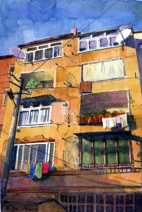 Architectural Watercolors And Helpful Art Studio Links