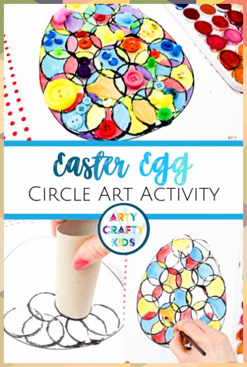 Circle Easter Egg Art for Kids Activity -   - #activity #Art #circle #decoration... #activity #Art #bathroom crafts #boho crafts #button crafts #circle #crafts decoracion #Decoration #disney crafts #Easter #EGG #Kids