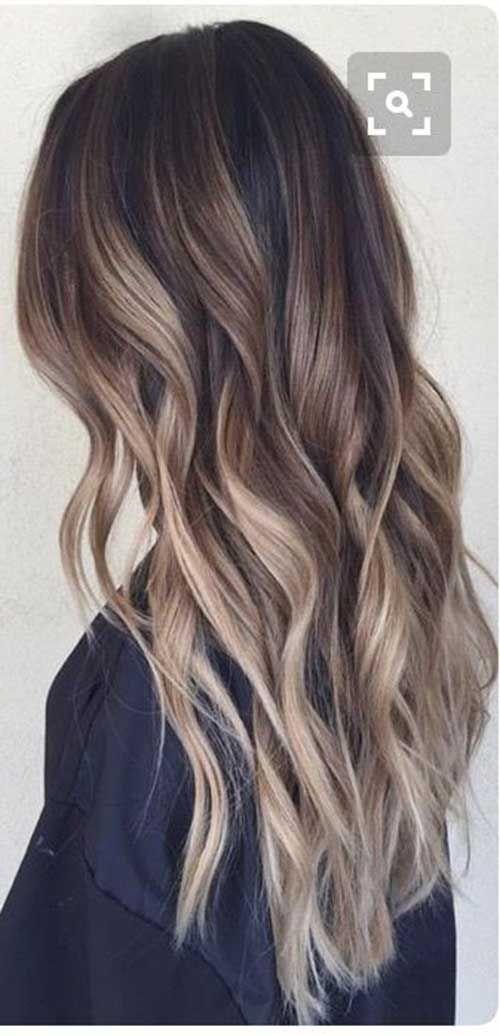 Große Ombre Farben für langes Haar #hairmakeup