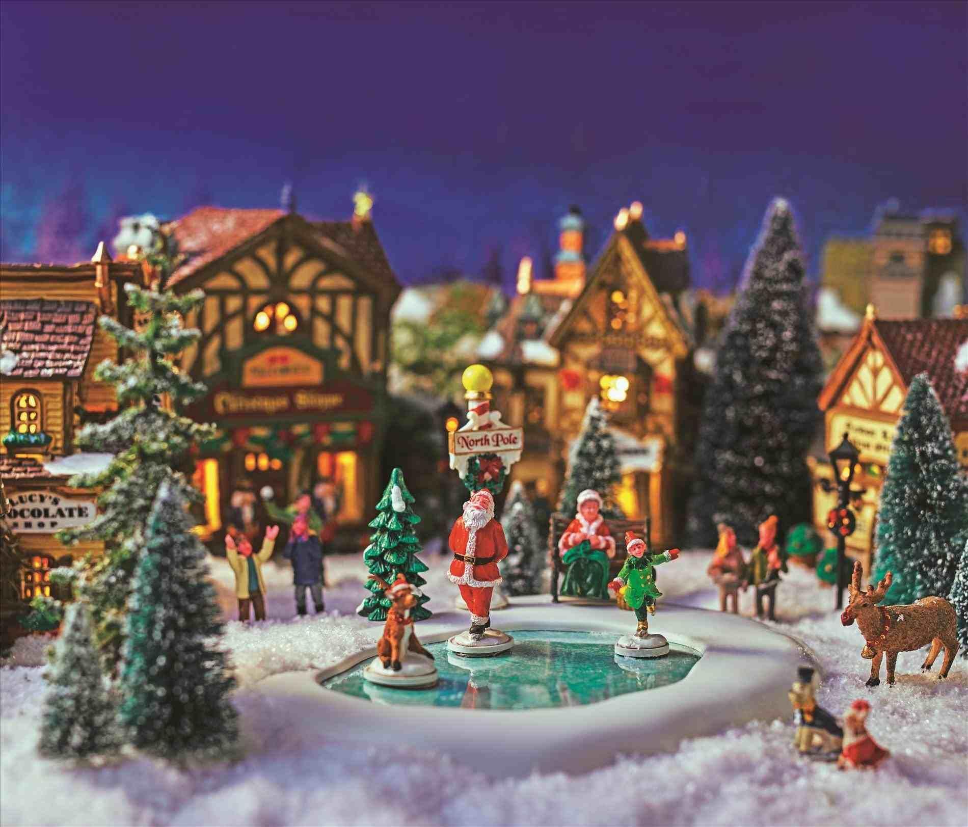 New Post Miniature Christmas Town Decorations Interesting Visit Xmastsite