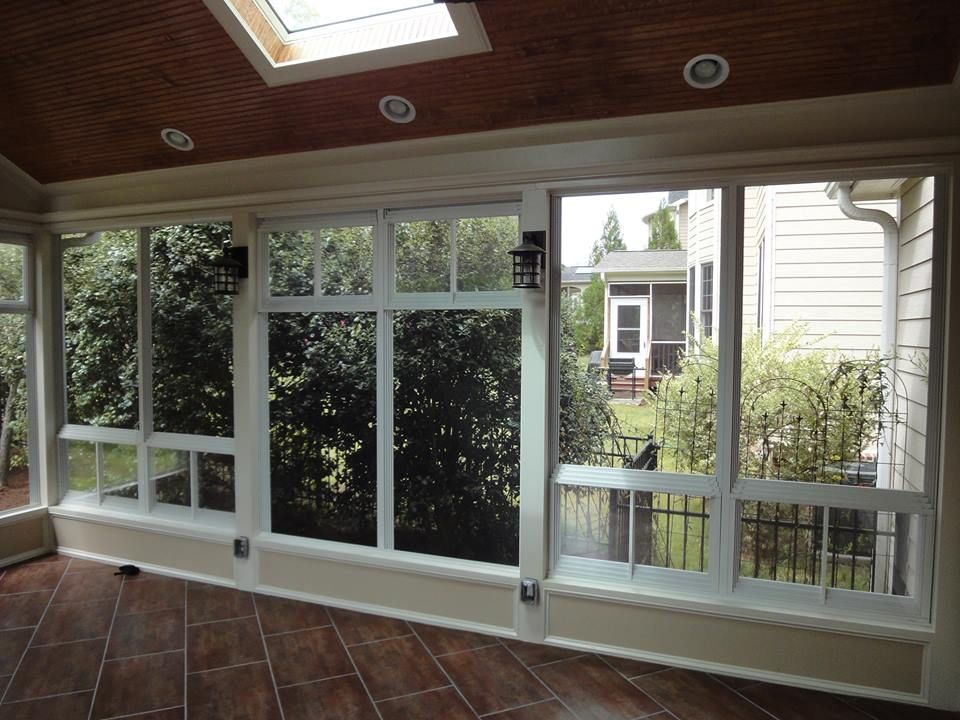 This Cary Nc 3 Season Room Features Eze Breeze Windows These Have A Screen On The Outside And Sliding Panels Inside Creating Wind Break