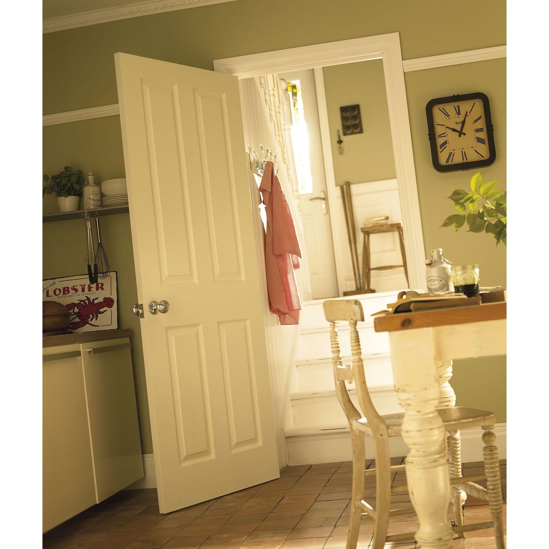 Moulded 4 Panel Woodgrain Internal Door Doorsworld Hallways