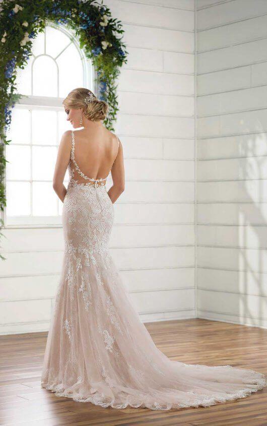 Sexy Lace Boho Wedding Dress