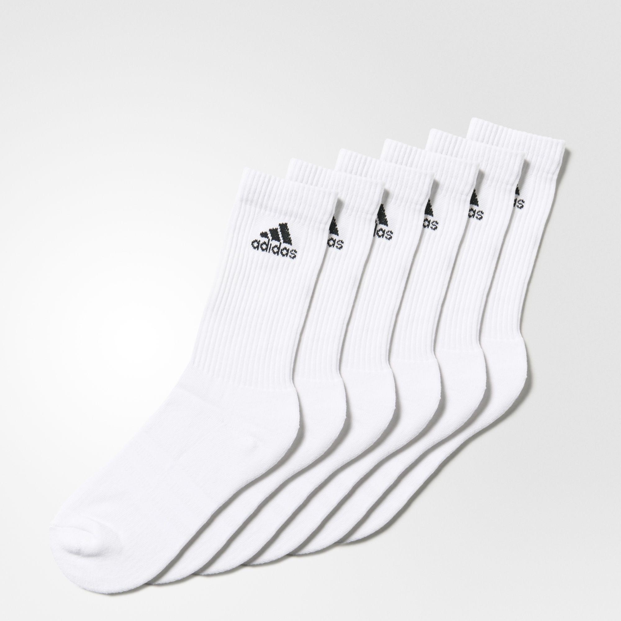 adidas - 6 pares de calcetines clásicos 3 bandas  a2efe0a320efa