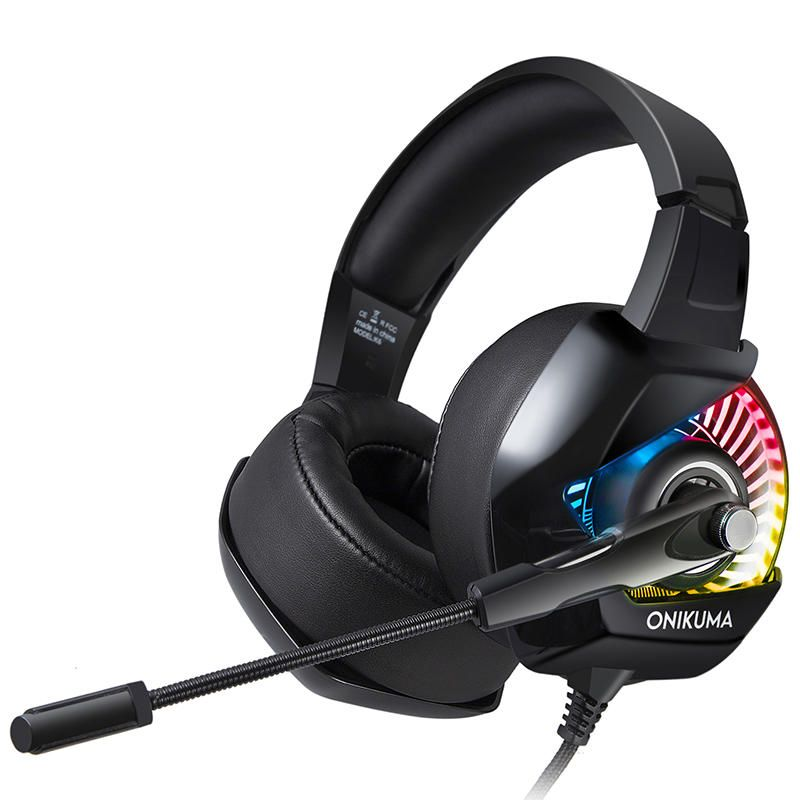 Onikuma K6 Gaming Headset Noise Reduction Stereo Rgb Light